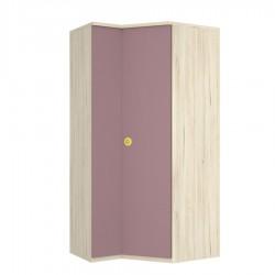 Armario rincón cartabón dcha. con estantería 1 estante